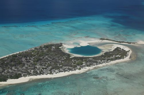 Another nuclear crater has formed a lagoon
